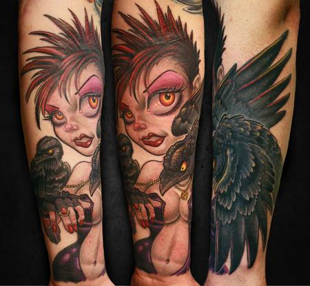 Tattoos - Gothic pinup babe - 101138