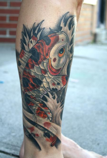 Tattoos - calico koi calf tattoo - 79153