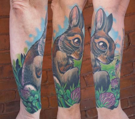 NewEngland Cottontail Tattoo Design Thumbnail