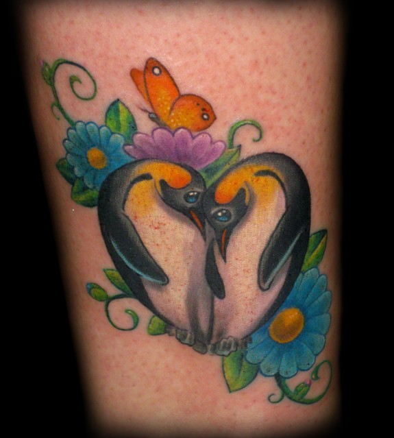 penguin love by tim senecal tattoos. Black Bedroom Furniture Sets. Home Design Ideas