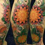 Tattoos - geometric floral tattoo - 106501