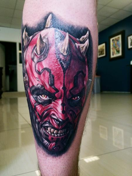 Darth Maul Tattoo from Star Wars Tattoo Design Thumbnail