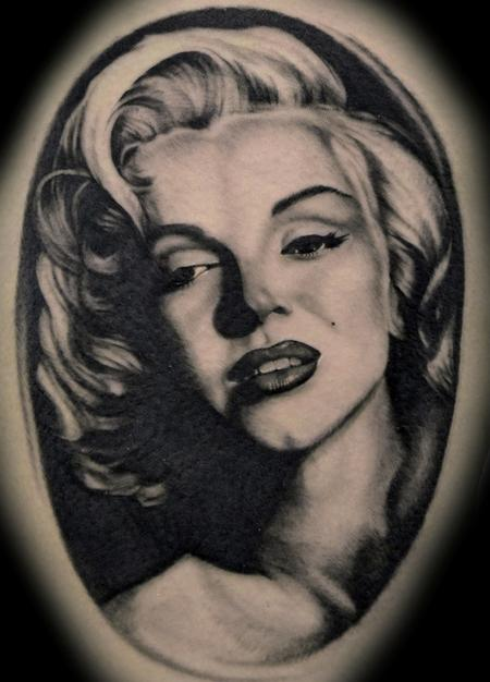 Marilyn Monroe Portrait Tattoo Tattoo Design Thumbnail