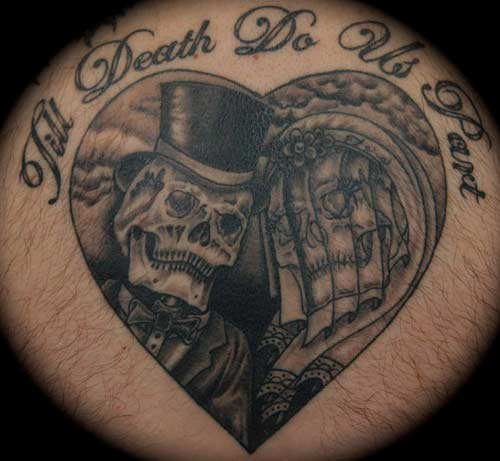 Tattoos > Todd Lucky Lambright > Page 1 > Til Death Do Us Part