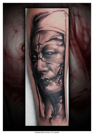 Tommy Lee Wendtner - Evil Nun tattoo