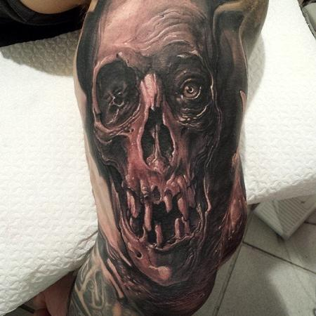 Tommy Lee Wendtner - Skull tatto
