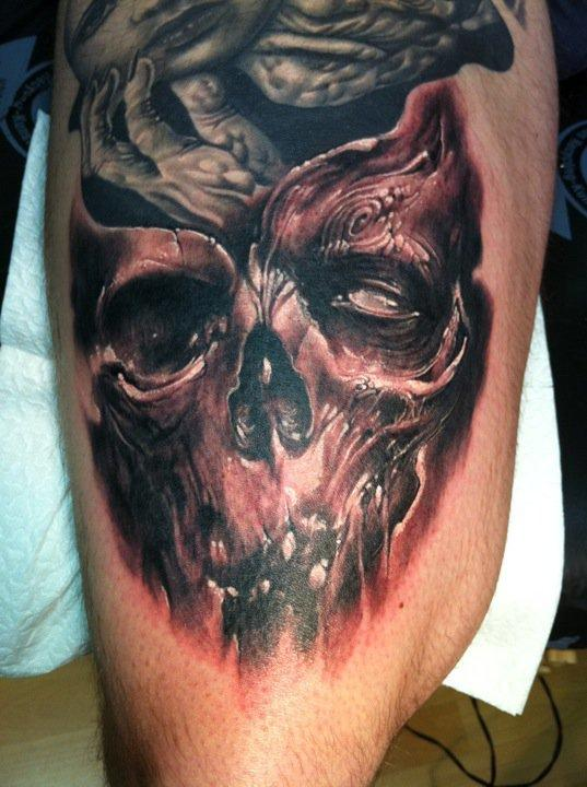 Skull Tattoo by Tommy Lee Wendtner: TattooNOW