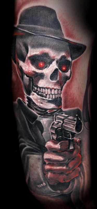 Gangsta Skull With Guns Download