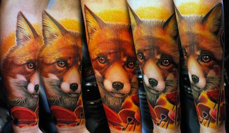 Tattoos - Fox and Poppies - 116496