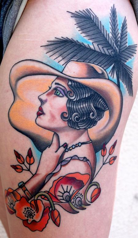 Tattoos - 20's Girl - 93244
