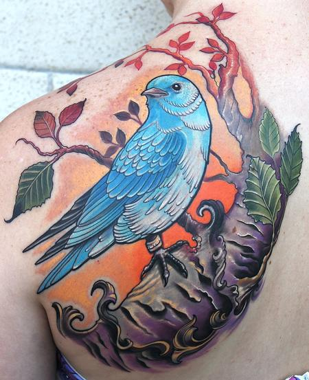 Mountain Bluebird Tattoo Design Thumbnail