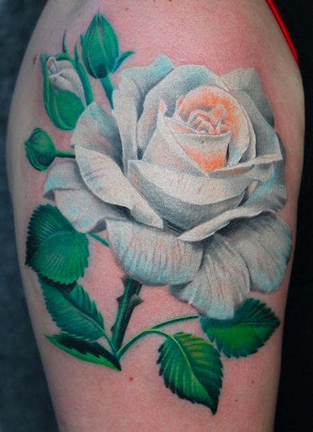 Tattoos - White Rose - 95726
