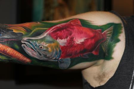 Tattoos - Sockeye Salmon - 116670