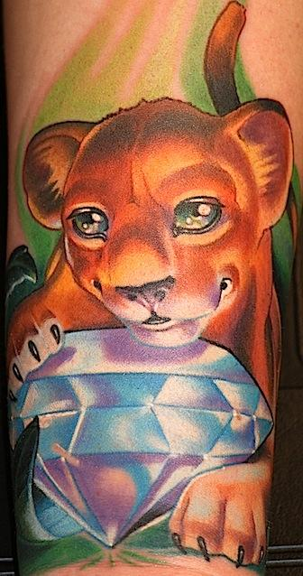 Lion cub Tattoo Design Thumbnail