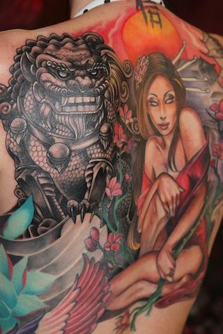 Tony Adamson - Asian influenced Backpiece..
