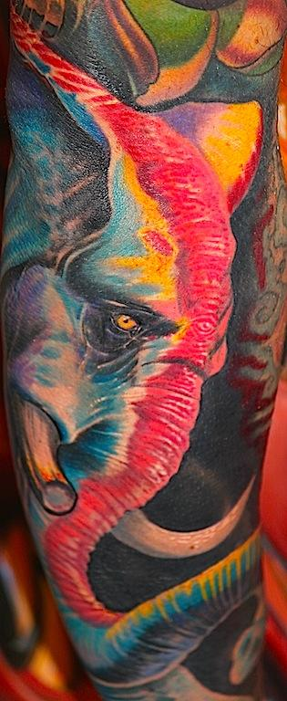 warrior elephant Tattoo Design Thumbnail