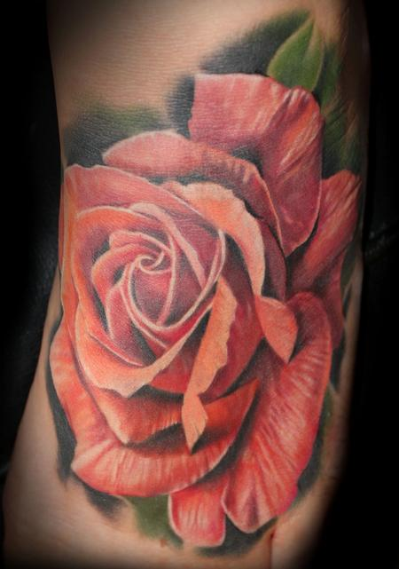 Tattoos - Rose foot piece - 106543