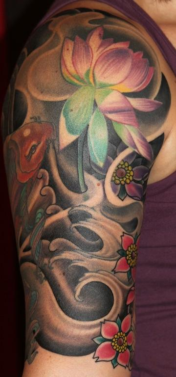 Tony Adamson - Japanese half sleeve