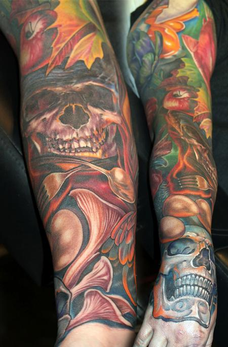 Tattoos - A Chef's sleeve - 120639