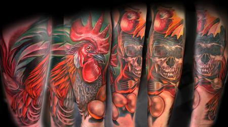 Tattoos - Rooster and Kitchen Stuff - 114219