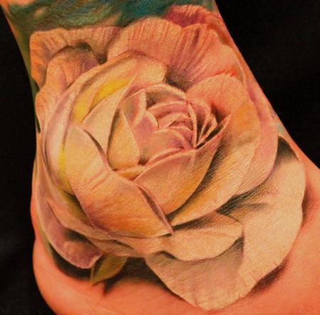 Tattoos - White Rose - 93445