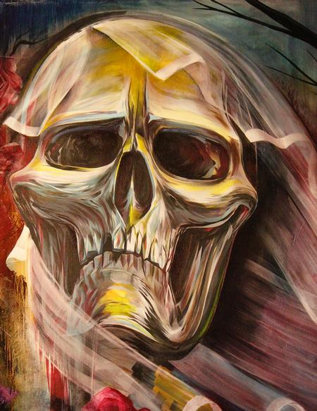 Tattoos - Acrylic skull - 76628