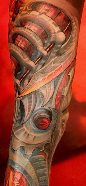 Tattoos - Biomechanical leg sleeve - 69122