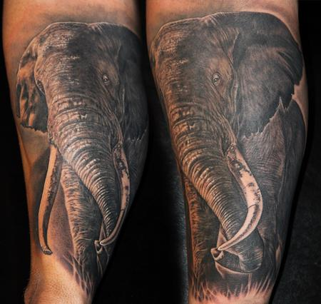Tattoos - Elephant - 112038