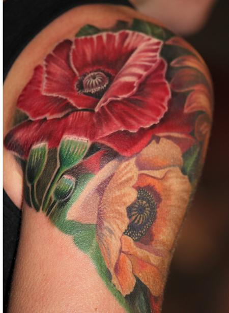 Tattoos - Poppies - 114323
