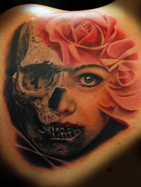 Tattoos - Skull Face - 102303