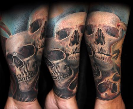 Morphing Skulls Tattoo Design Thumbnail