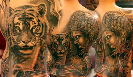 Tattoos - Tiger and Buddha - 109935
