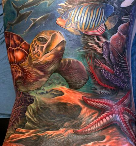 Tattoos - Sea Turle Backpiece - 116146