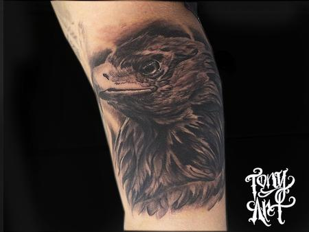 Tony Tapia - Golden Eagle Tattoo ,Bird,BIRD OF PREY,Bird tattoos,Realism,Black and Grey,Tattoos