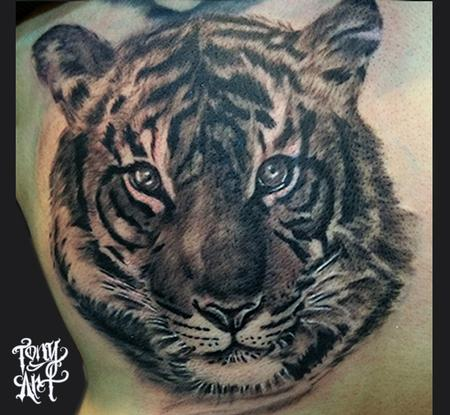 Tattoos - tiger,tiger tattoos,animal portraits, - 93369