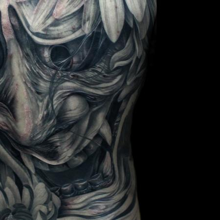Hannya Mask Tattoo Design