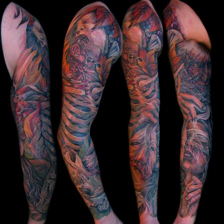 Tony mancia 39 s tattoo designs tattoonow for Seven sins tattoo