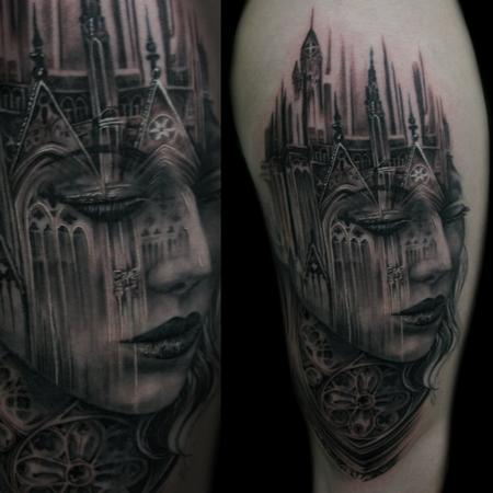 Cathedral Lady Tattoo Design Thumbnail