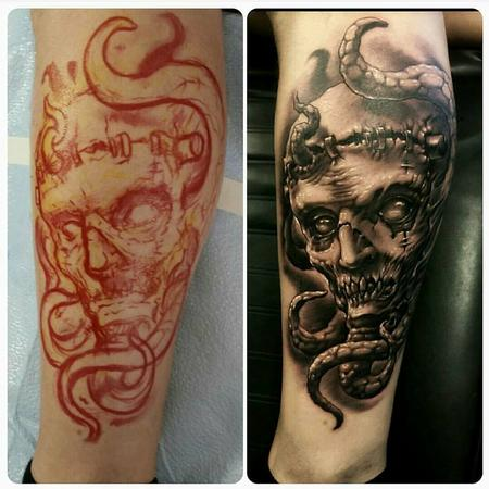 Tattoos - frankenstein & tentacles - 128765