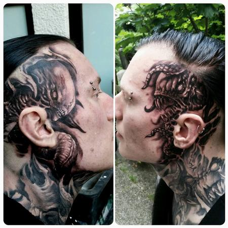 Tattoos - sides of Andy's head/face - 128783