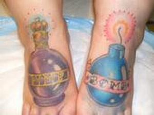 Bomb feet tattoos Tattoo Design