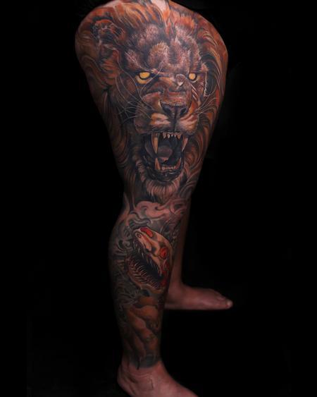 Tattoos - Ferocity leg sleeve - 134450
