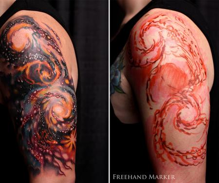 Tattoos - Galaxy Half Sleeve - 129775