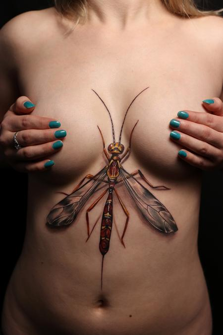 Ichneumon Wasp Reverse Chest Piece Design Thumbnail