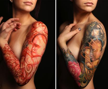 Tattoos - Freehand Life Sleeve - 122454