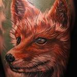 Freehand Fox Tattoo Design Thumbnail