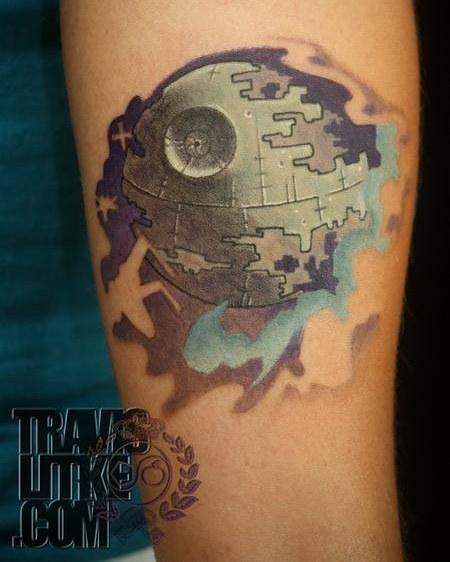 Tattoos - Travis Litke Death Star Star Wars Tattoo - 133460