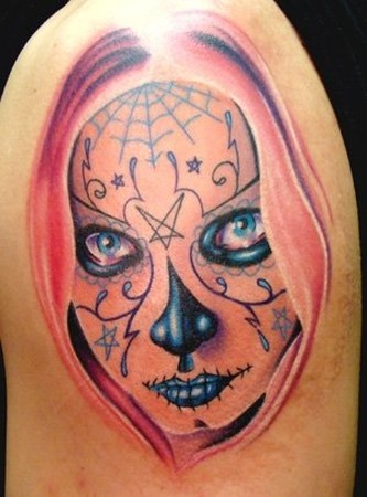 Travis Litke - sugarskull girl /day of the dead girl tattoo