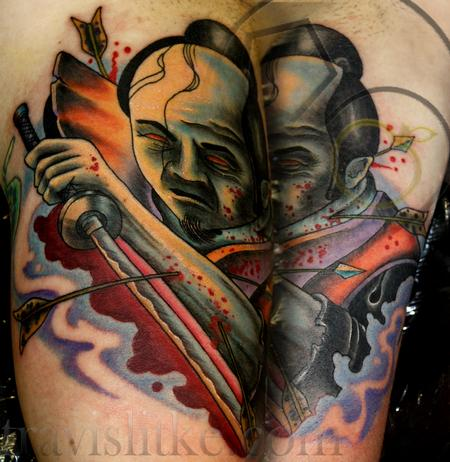 Travis Litke - Last Stand of the Samurai Tattoo/ Bicep