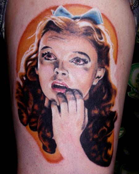Tattoos - Travis Litke Dorothy Tattoo Wizard of Oz Bloomington Indiana - 133365